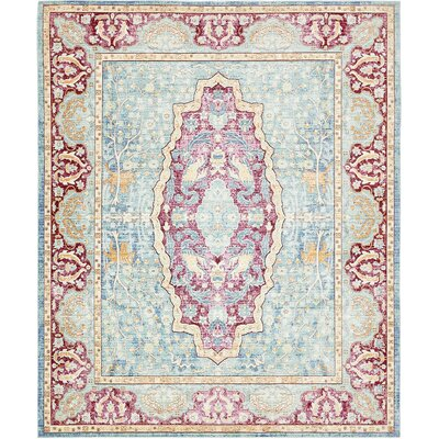Carrico Navy Blue Area Rug Rug Size: 8 x 10