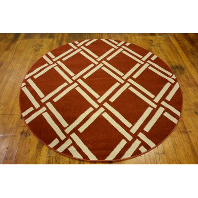 Seagate Dark Terracotta Area Rug Rug Size: Rectangle 7' x 10'