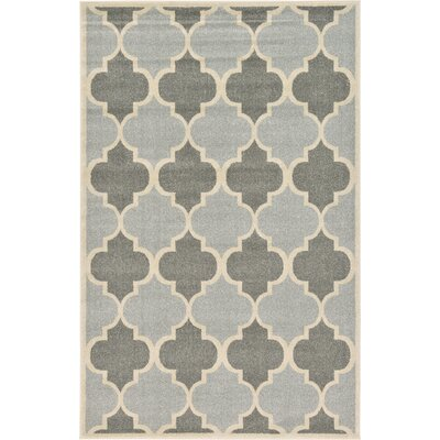 Moore Silver Area Rug Rug Size: 5 x 8