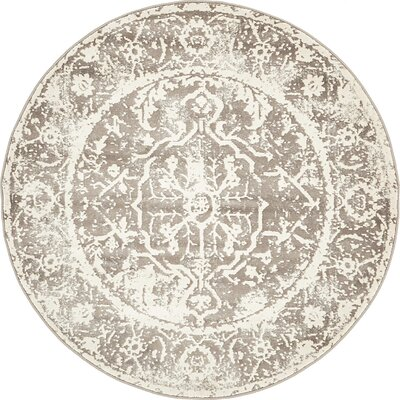 Sherrill Gray Floral Area Rug Rug Size: Rectangle 10 x 7