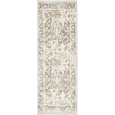 Sherrill Gray Floral Area Rug Rug Size: Runner 22 x 6