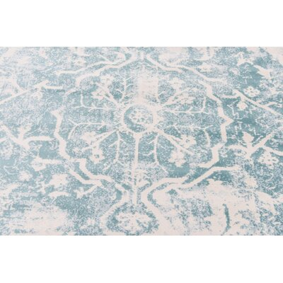 Sherrill Blue Floral Area Rug Rug Size: Rectangle 9 x 12