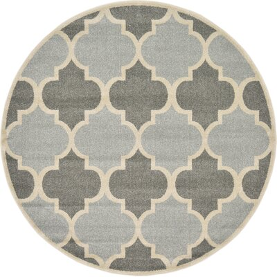 Moore Silver Area Rug Rug Size: Round 6
