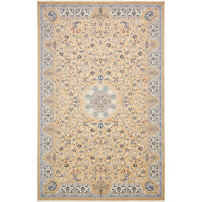 Jackson Beige Area Rug Rug Size: Rectangle 8 x 10