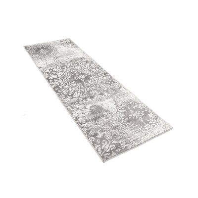 Argyle Gray Area Rug Rug Size: Runner 2 x 91