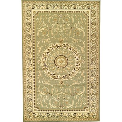Oskar Light Green Area Rug Rug Size: 106 x 165