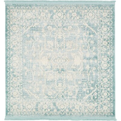 Bryant Oriental Light Blue Area Rug Rug Size: 4 x 4