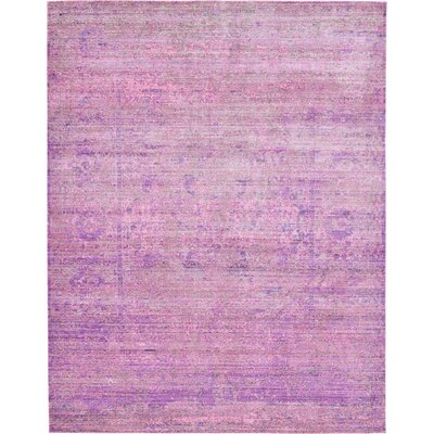 Bradford Purple Area Rug Rug Size: Rectangle 9 x 12