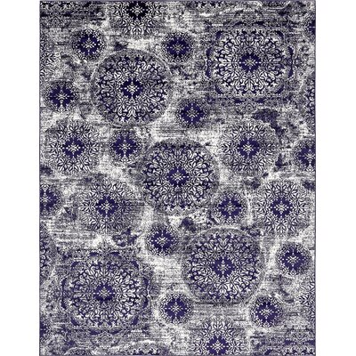 Brandt Navy Blue Area Rug Rug Size: Rectangle 33 x 53