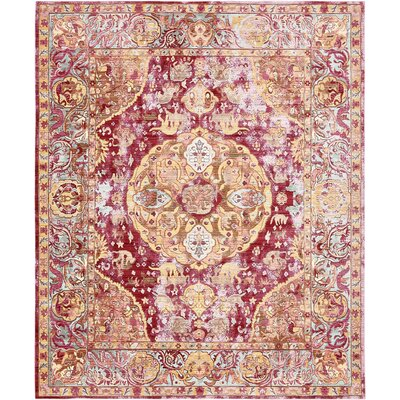 Carrico Oriental Red Area Rug Rug Size: 8 x 10