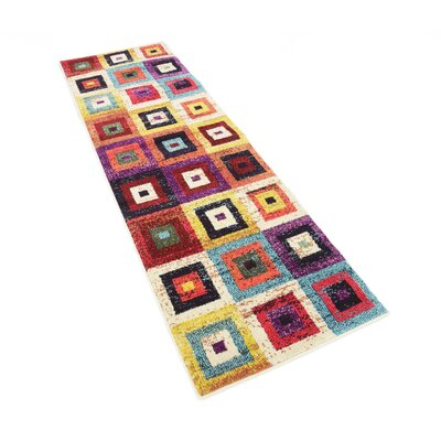 Lionel Blue/Purple Area Rug Rug Size: Runner 22 x 67