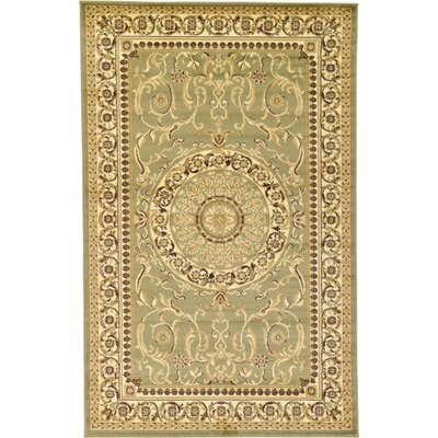 Oskar Light Green Area Rug Rug Size: 5 x 8