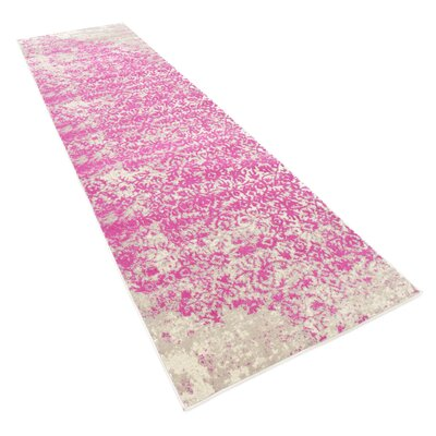 Francis Pink Area Rug Rug Size: Runner 3 x 10