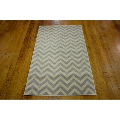 Wistow Gray/Beige Area Rug Rug Size: 33 x 53