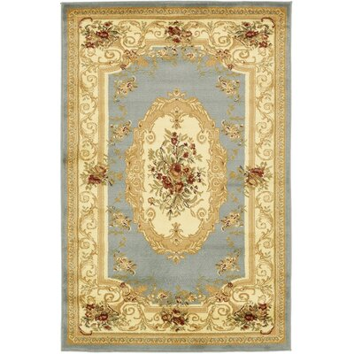 Patton Gray Area Rug Rug Size: 4 x 6