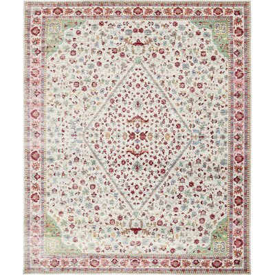 Carrico Red Area Rug Rug Size: Rectangle 9 x 12