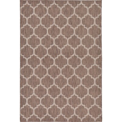 Hampstead Brown Outdoor Area Rug Rug Size: Rectangle 7 x 10