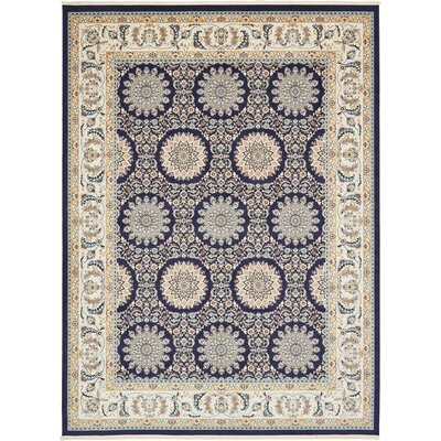 Jackson Navy Blue Area Rug Rug Size: Rectangle 3 x 5