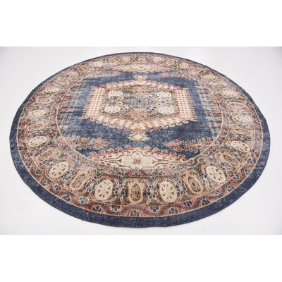 Nathanson Dark Blue Area Rug Rug Size: Rectangle 5 x 8