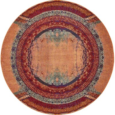 Fujii Orange Area Rug Rug Size: Rectangle 7 x 10
