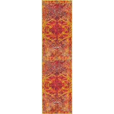 Fujii Red Area Rug Rug Size: Runner 27 x 10