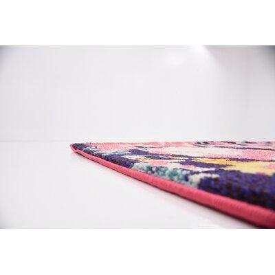 Shemar Pink Area Rug Rug Size: 8 x 10