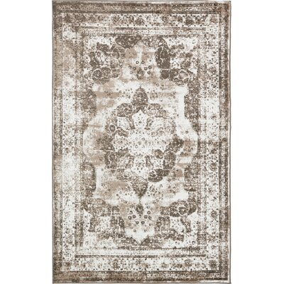 Brandt Light Brown Area Rug Rug Size: 5 x 8