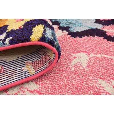 Shemar Pink Area Rug Rug Size: 8' x 10'