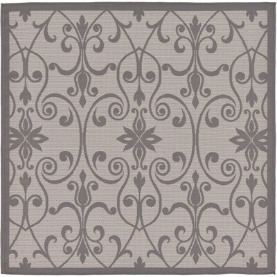 Floyd Gray Outdoor Area Rug Rug Size: Square 6