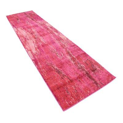 Fujii Pink Area Rug Rug Size: Runner 27 x 10