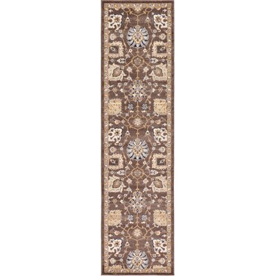 Peter Tradition Brown Area Rug Rug Size: Runner 2'2