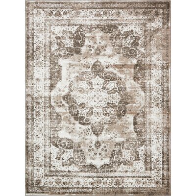 Brandt Light Brown Area Rug Rug Size: 9 x 12