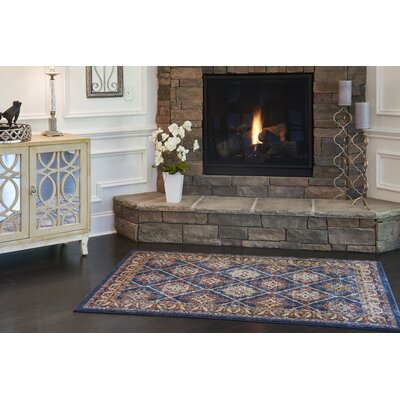 Nathanson Blue Area Rug Rug Size: Rectangle 4 x 6