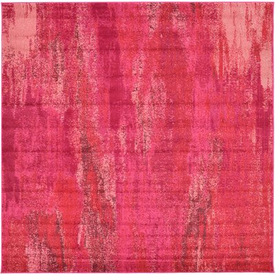 Fujii Pink Area Rug Rug Size: Square 8'