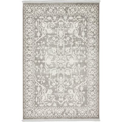 Bryant Light Gray Area Rug Rug Size: Rectangle 4 x 6