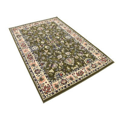Essehoul Green Area Rug Rug Size: Rectangle 7 x 10
