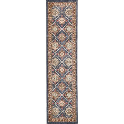 Nathanson Blue Area Rug Rug Size: Runner 27 x 10