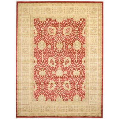 Willow Red Area Rug Rug Size: Rectangle 7 x 10