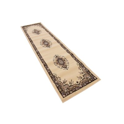 Britain Ivory Area Rug Rug Size: Runner 3 x 165