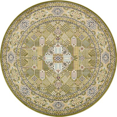 Jackson Green Area Rug Rug Size: Round 10