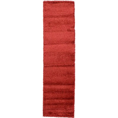 Tatro Red Area Rug Rug Size: Runner 27 x 91