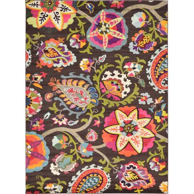 Roshan Brown Area Rug Rug Size: 8 x 11