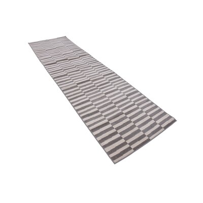 Braxton Warm Gray/Ivory Area Rug Rug Size: Runner 29 x 91