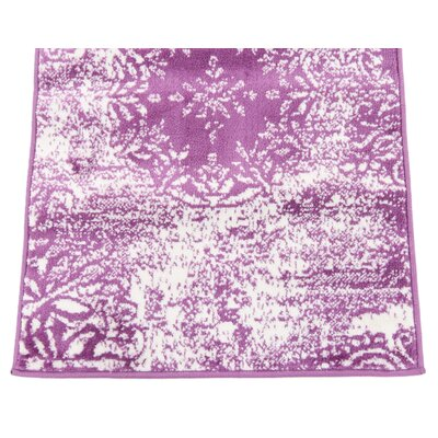 Brandt Purple Area Rug Rug Size: Rectangle 5 x 8