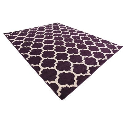 Moore Purple Area Rug Rug Size: Rectangle 8 x 10