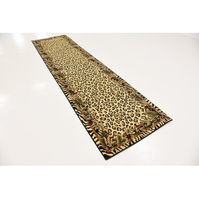 Leif Tan/Olive Area Rug Rug Size: Runner 27 x 10