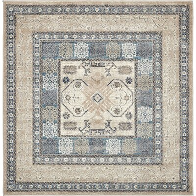 Basswood Beige Area Rug Rug Size: Square 5'