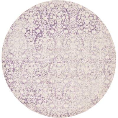 Patenaude Purple Area Rug Rug Size: Round 8