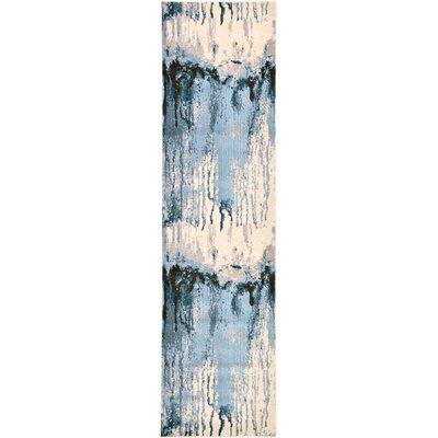 Brister Light Blue Area Rug Rug Size: Runner 27 x 10