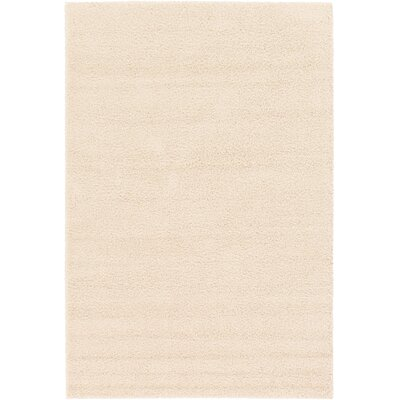 Bixler Frieze Basic Cream Area Rug Rug Size: 6 x 9